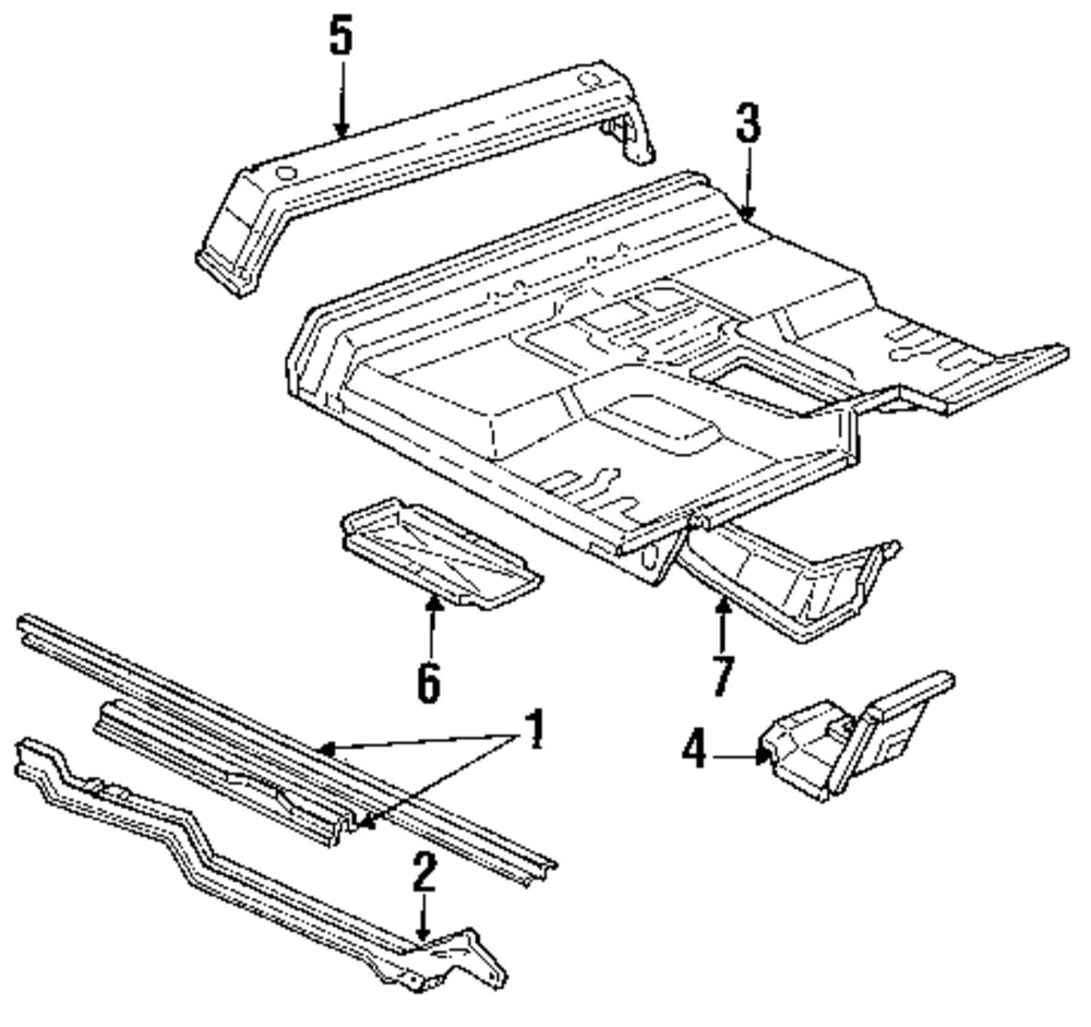 Genuine ford crossmember for f2tz1510693a
