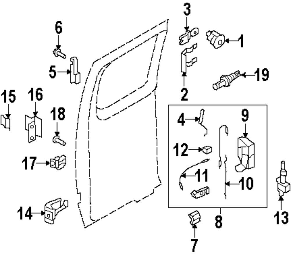 medium resolution of genuine ford lock cylinder retainer for 8c2z1522023b