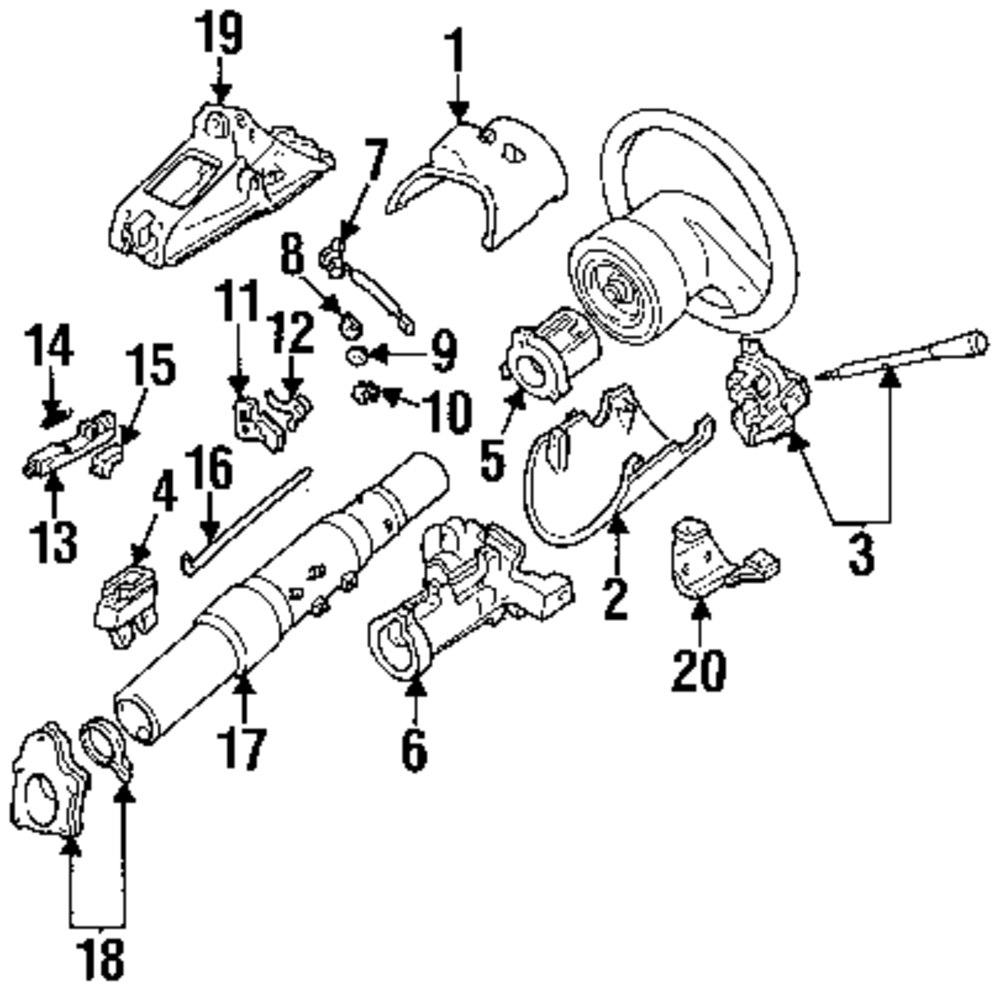 1994 Ford Explorer Steering Column Diagram. Ford. Auto