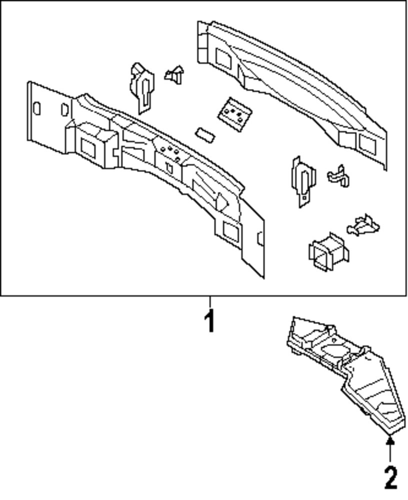 Genuine ford floor extn for dt4z7811252a