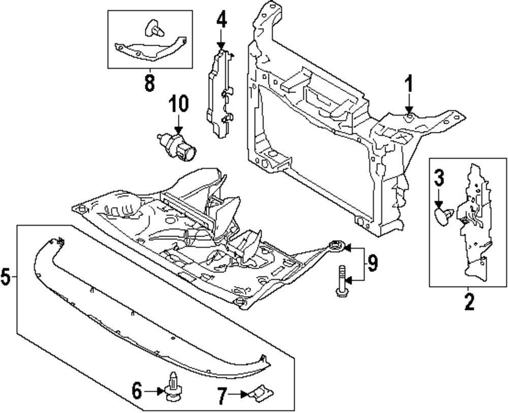 medium resolution of genuine ford inner shield for aa8z8311a