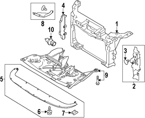small resolution of genuine ford inner shield for aa8z8311a