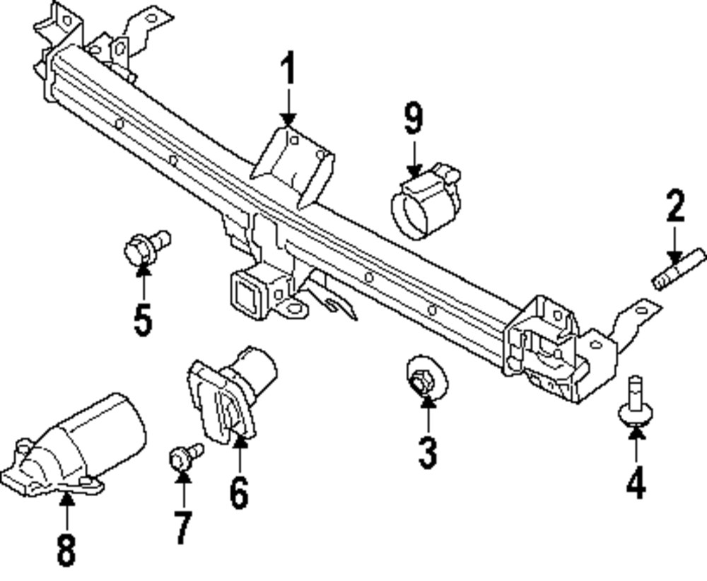 Buy Rear Bumper/Trailer Hitch Components Parts for FORD
