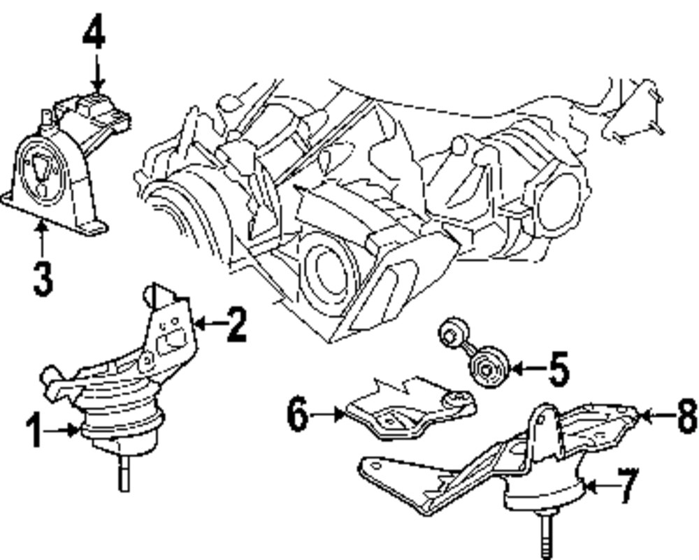 2005 Chrysler Town And Country Engine Mounts