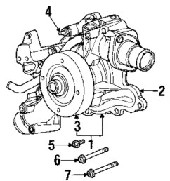 genuine dodge timing cover bolt dod 6506270aa [ 912 x 1000 Pixel ]
