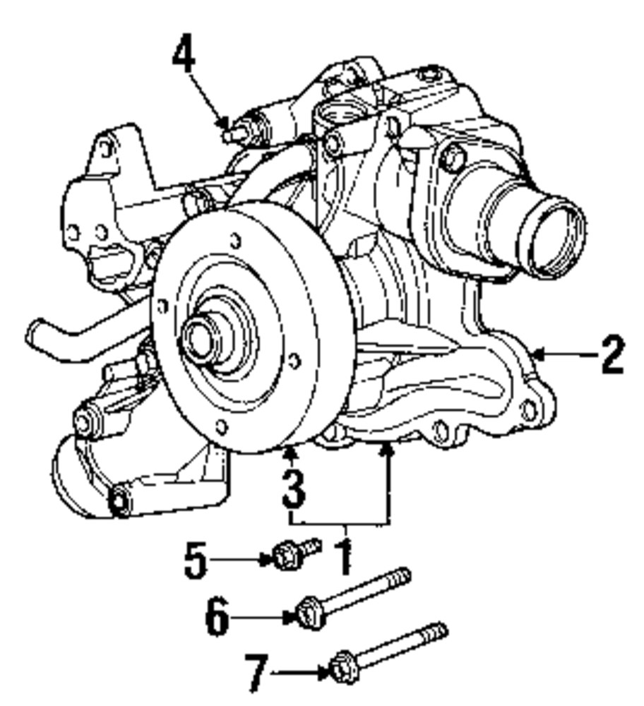 hight resolution of genuine dodge timing cover bolt dod 6506270aa