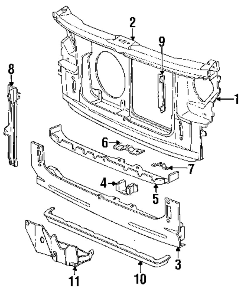 Genuine chrysler reinforcement bracket chr 4386435