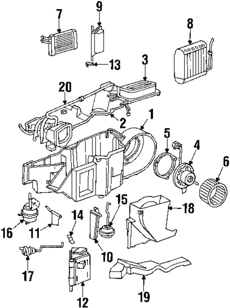 2000 Dodge Durango Air Conditioning Vac Diagram, 2000