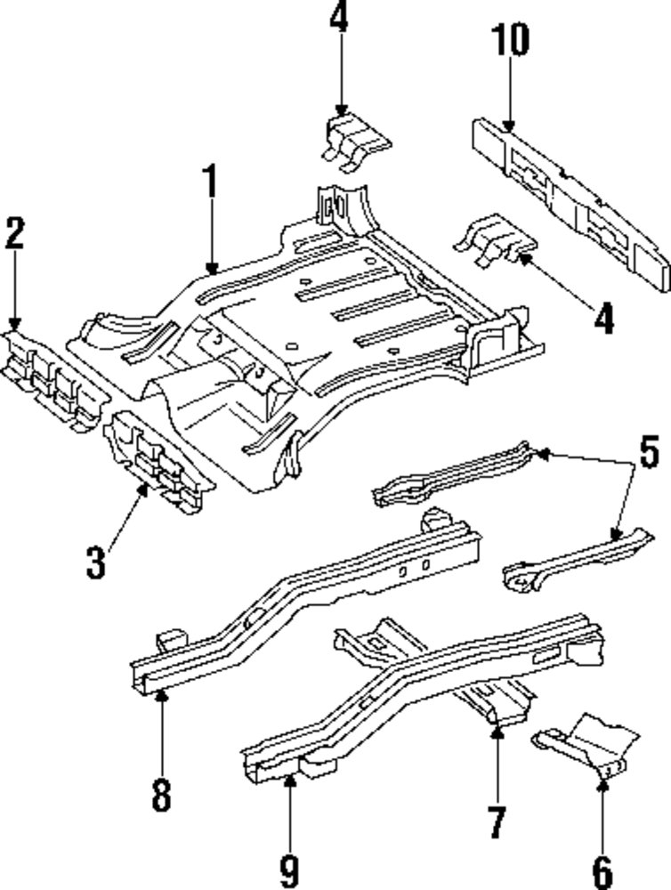 2001 JEEP CHEROKEE Rear Floor And Rails Parts
