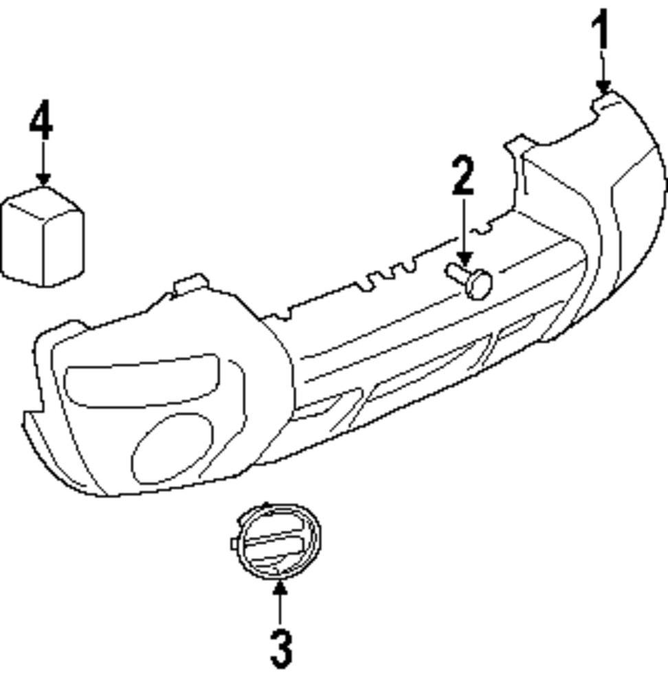 medium resolution of genuine jeep bumper cover jee 5jg89cjmac