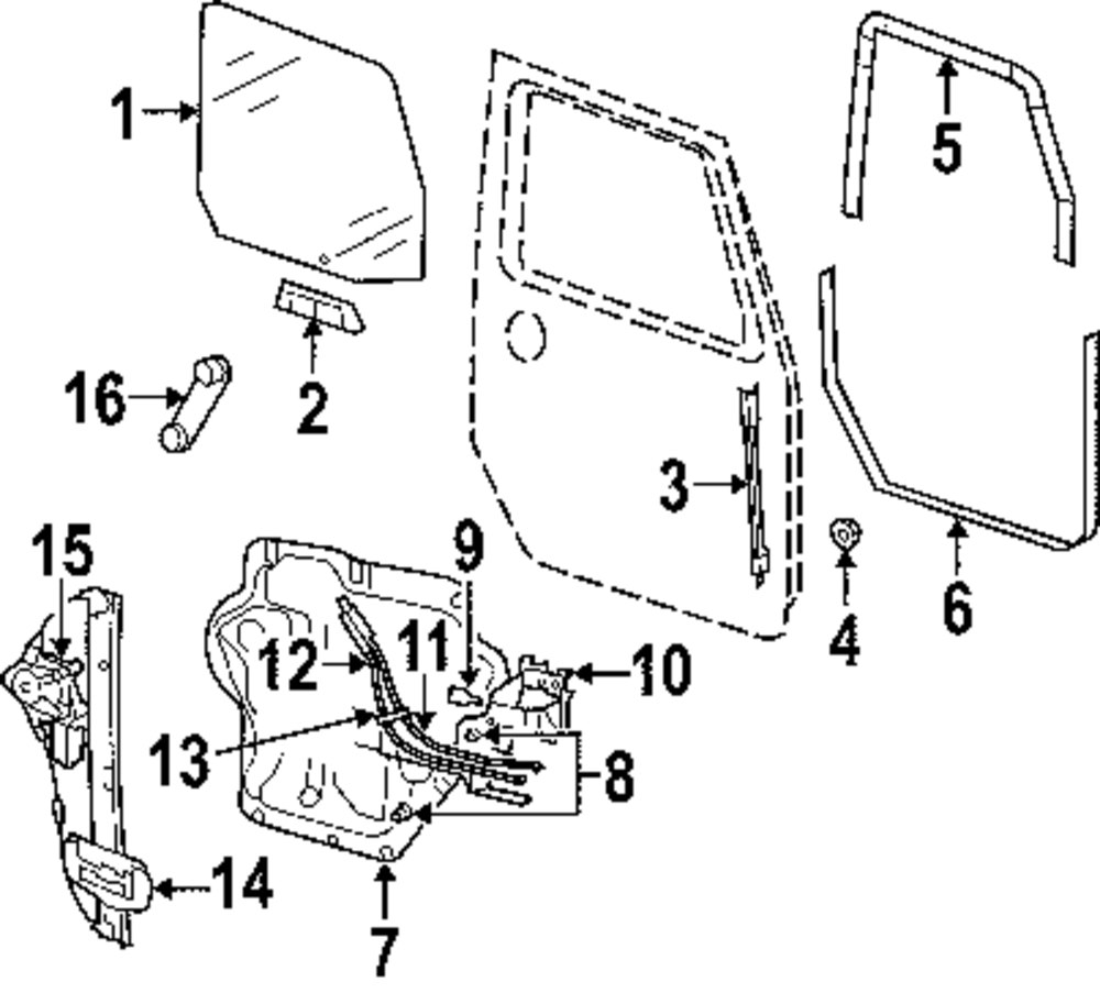 2014 JEEP WRANGLER Glass And Hardware Parts
