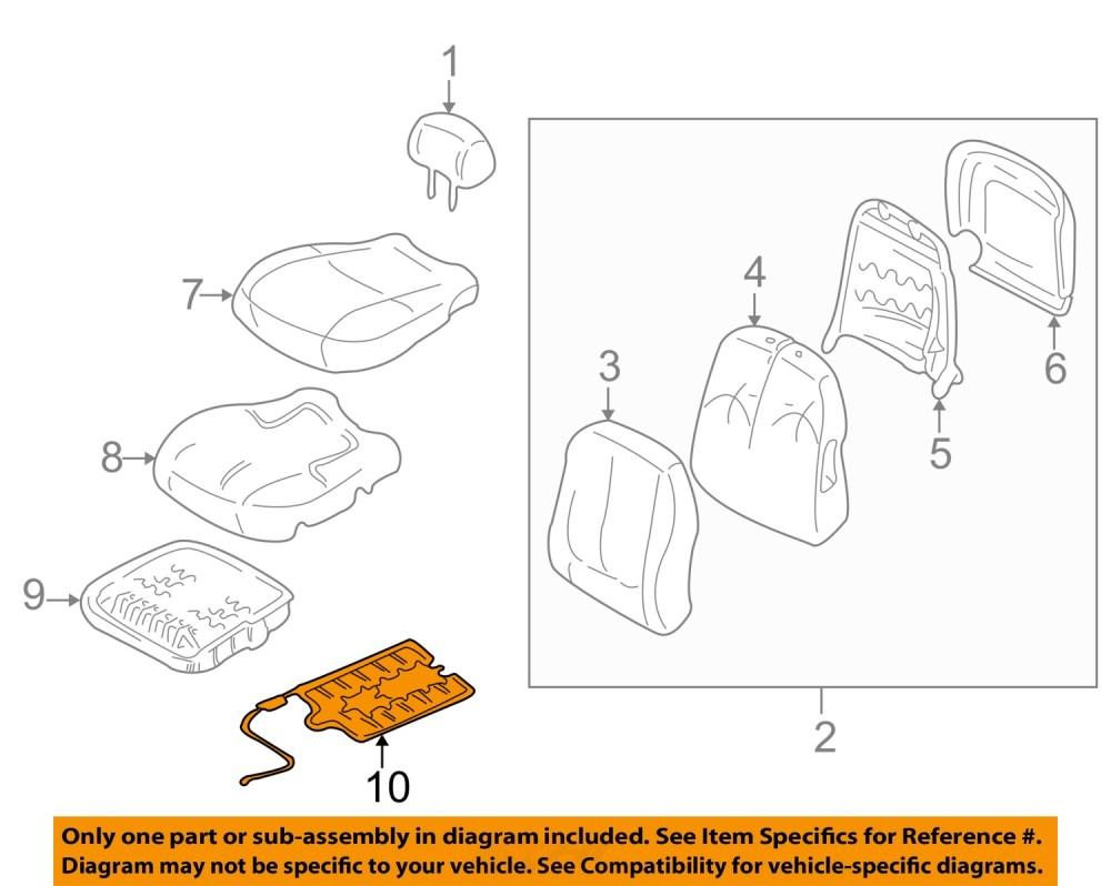 medium resolution of hyundai oem 01 05 elantra front seat occupant sensor 889062d000 hyundai accent engine diagram a diagram