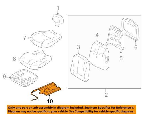 small resolution of hyundai oem 01 05 elantra front seat occupant sensor 889062d000 hyundai accent engine diagram a diagram