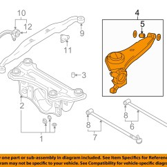 2002 Hyundai Santa Fe Parts Diagram 2003 Mitsubishi Eclipse Ignition Wiring Oem 01 02 Rear Trailing Control Arm Left