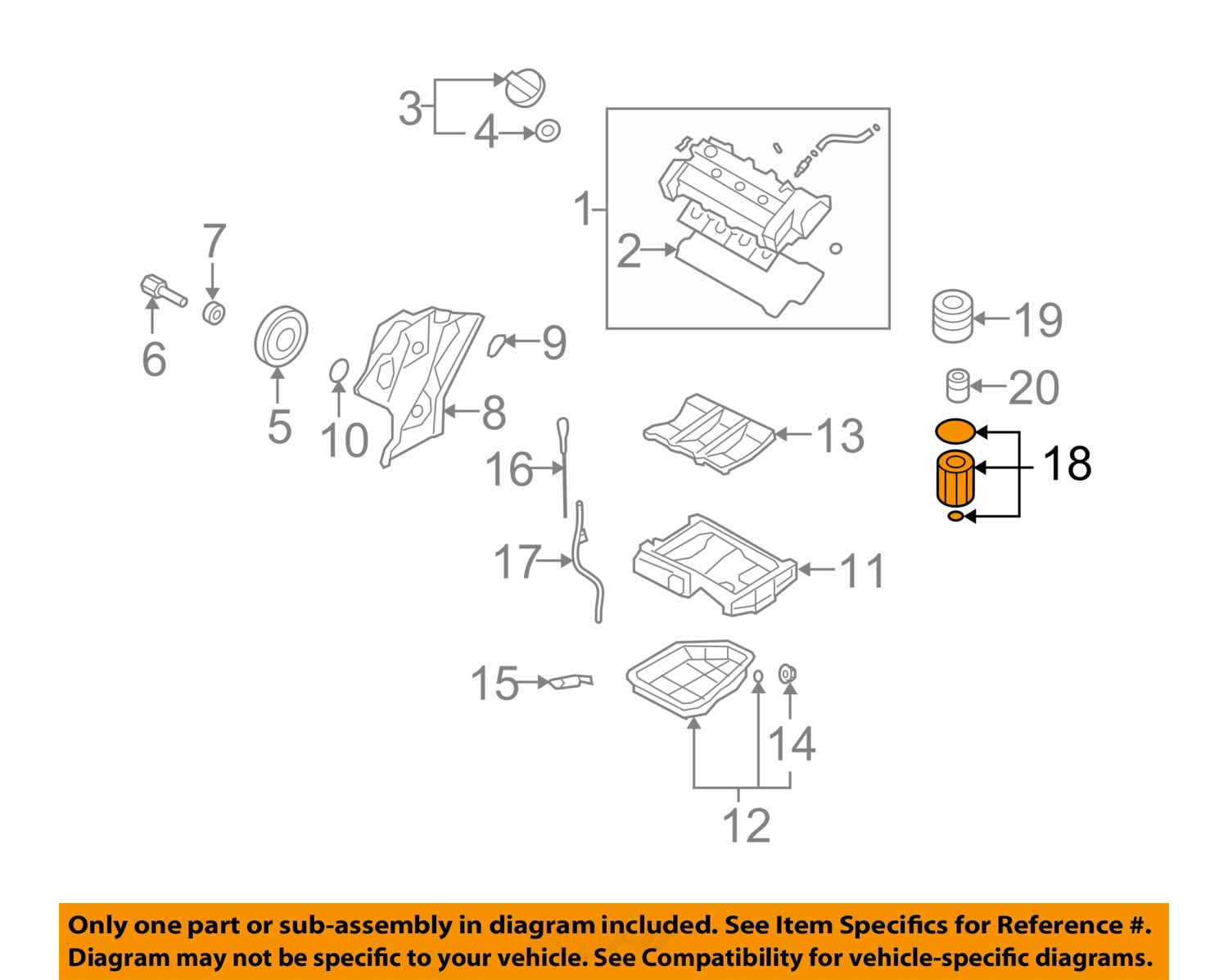 hight resolution of  18 on diagram only genuine oe factory original item