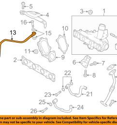 hyundai oem 11 14 sonata turbocharger turbo oil feed tube 282402g411 [ 1500 x 1197 Pixel ]
