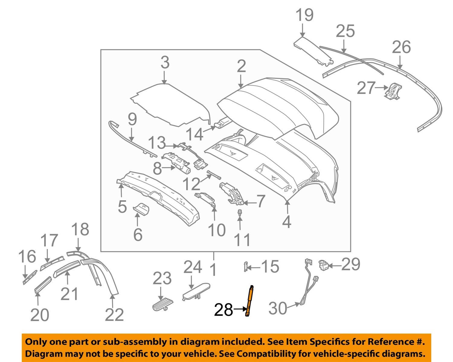 cat3 phone wiring diagram for a plug bmw oem 03 08 z4 convertible soft top strut support