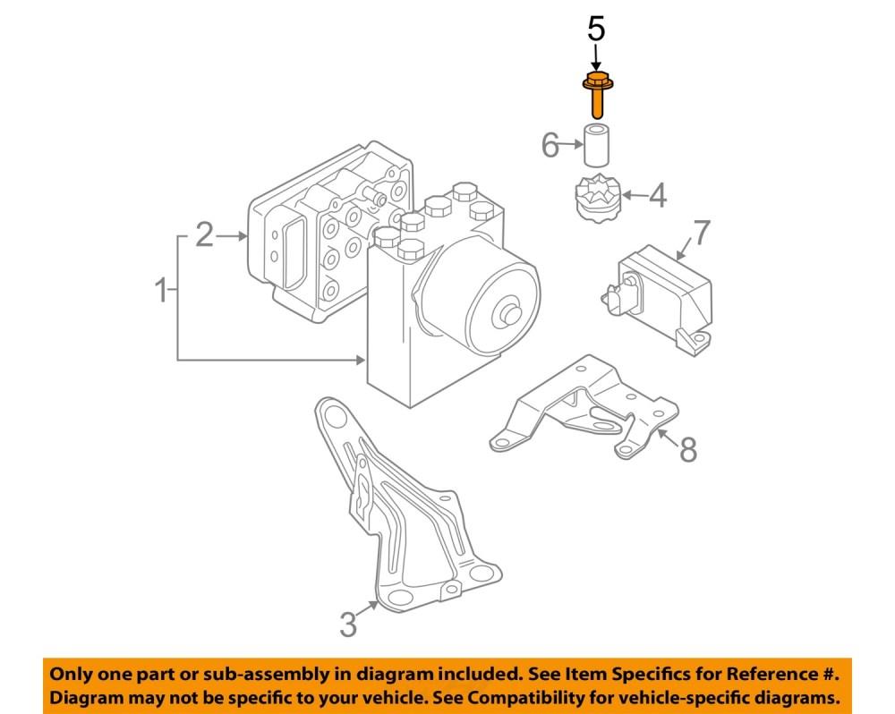 medium resolution of mini oem 02 08 cooper abs anti lock brake system repair kit bolt 07146971298