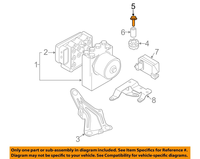 hight resolution of mini oem 02 08 cooper abs anti lock brake system repair kit bolt 07146971298