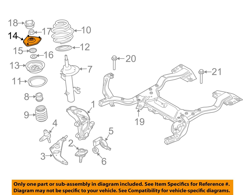 mini cooper suspension diagram 2003 mustang wiring oem 2002 front strut mount bearing