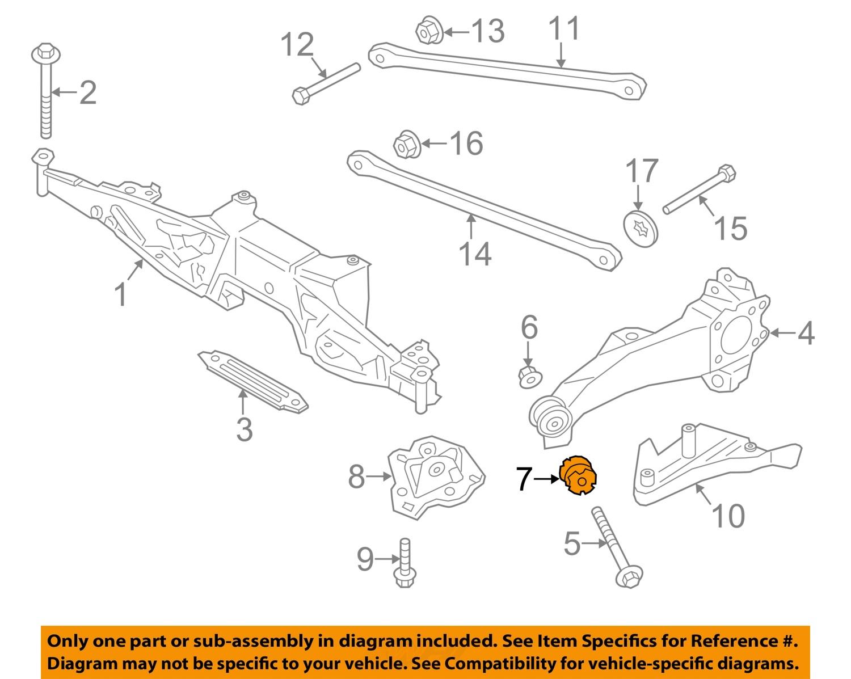 mini cooper suspension diagram 98 honda civic fuse oem 14 16 rear trailing control arm bushing