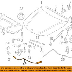 Cat3 Phone Wiring Diagram Traxxas E Maxx Parts Bmw Oem 08 13 128i Hood Latch Lock Release Cable