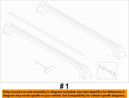 small resolution of mini countryman r60 base roof rack factory mini brand 6 6 of 6 see more