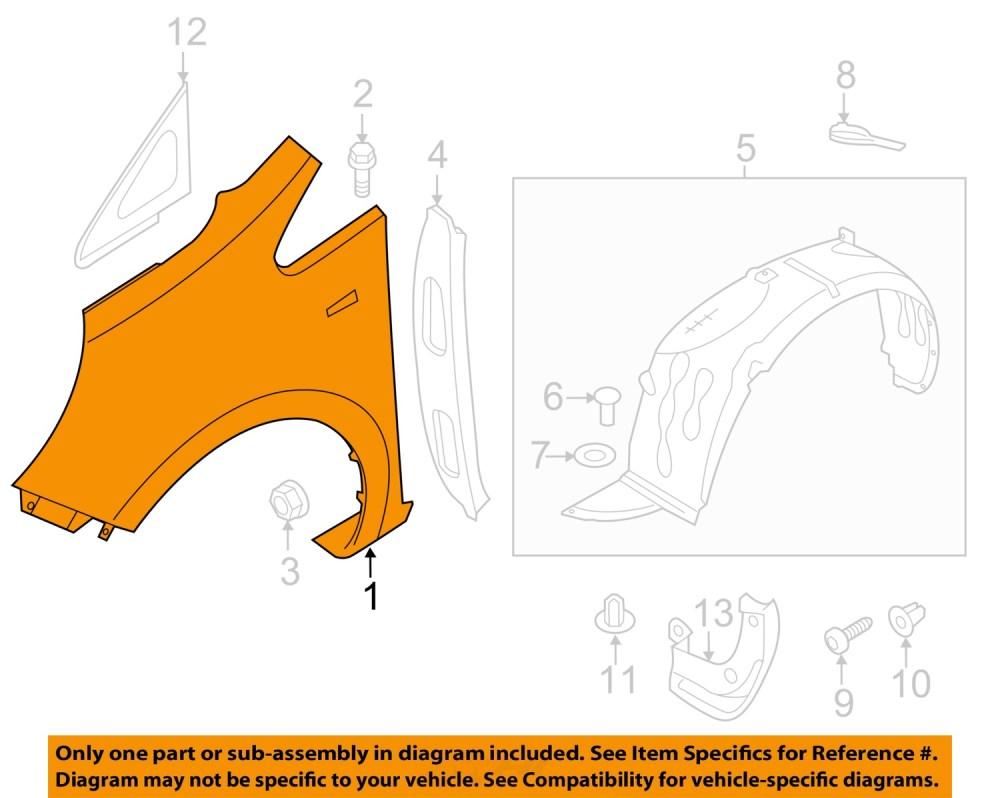 medium resolution of kia oem 12 16 rio front fender quarter panel left 663111w100