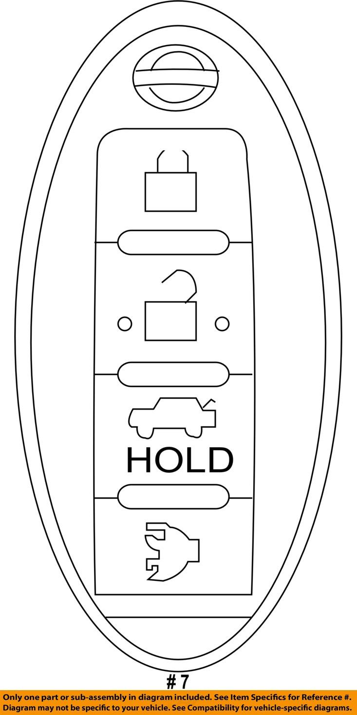 NISSAN OEM 285E3ZQ31A Keyless Entry-Transmitter 285E3