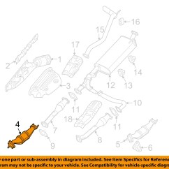 Nissan Pathfinder Exhaust System Diagram Yamaha Wiring Diagrams Oem 05 08 4 0l V6 Catalytic Converter