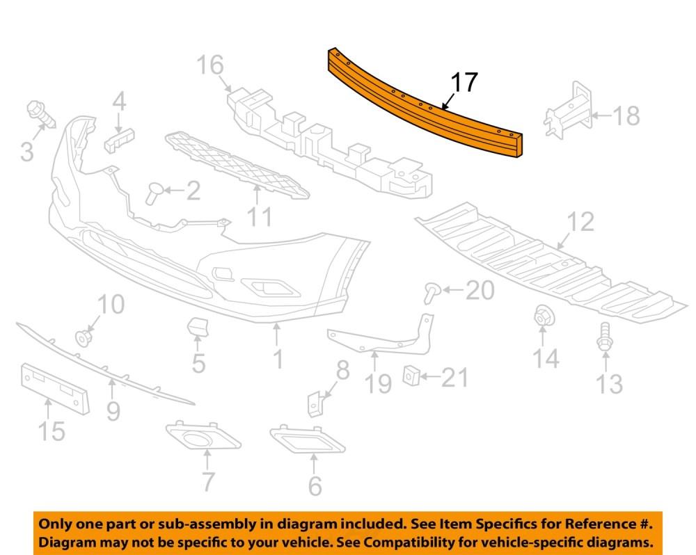 medium resolution of nissan oem 14 16 rogue front bumper impact reinforcement bar rebar 620304ba0a nissan oem 14 16 rogue front bumper impact reinforcement bar rebar 620304ba0a