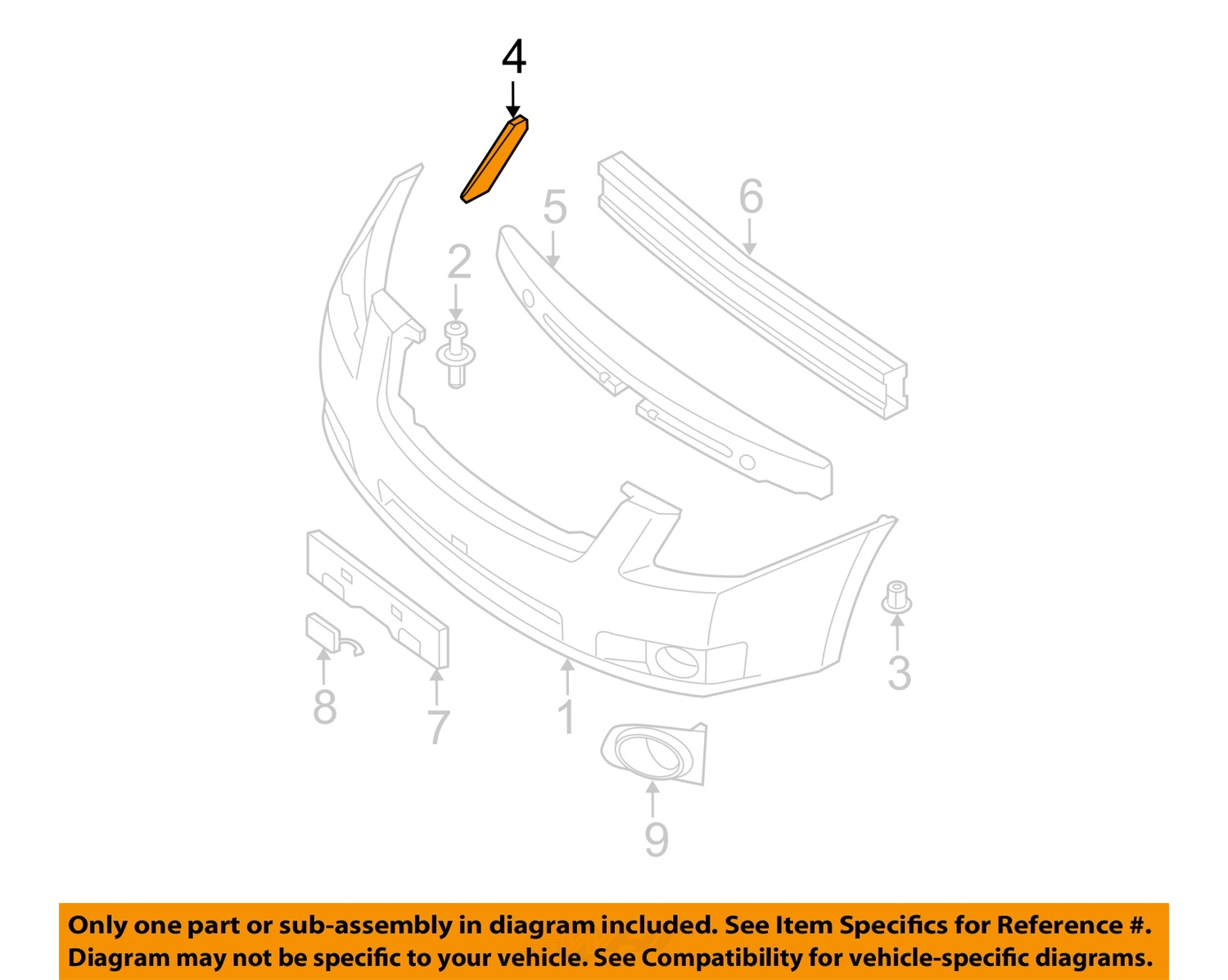 hight resolution of  4 on diagram only genuine oe factory original item