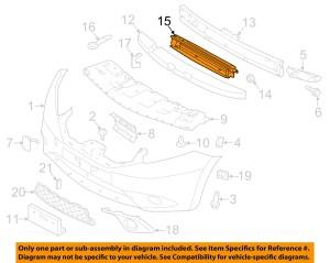 NISSAN OEM 2014 Versa Note Front BumperGrille Radiator