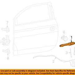 Door Handle Parts Diagram 2003 Chevy Avalanche Trailer Wiring Fiat Oem 12 13 500 Outside Exterior Left