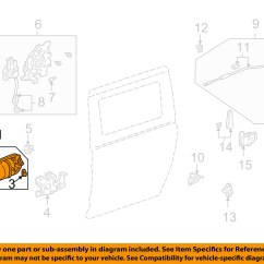 Honda Odyssey Sliding Door Parts Diagram 2002 Crv Fuse Box Oem Side Handle Outside
