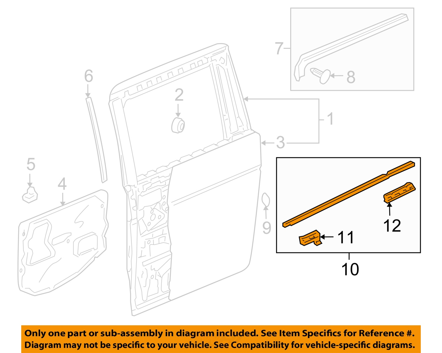 honda odyssey sliding door parts diagram 06 chevy silverado stereo wiring oem 05 07 side belt molding