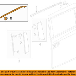 Honda Odyssey Sliding Door Parts Diagram Ear Bone Blank Oem 11 16 Side Belt Molding