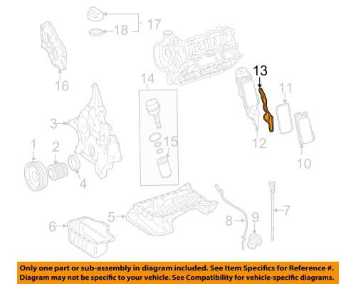 small resolution of mercedes oem e l v engine oil filter housing gasket mercedes oem 06 11 e350 3 5l v6