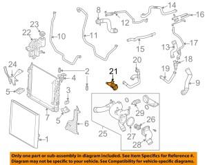 LAND ROVER OEM 0609 Range Rover 44LV8 RadiatorHose