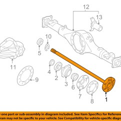 2003 Toyota Sequoia Parts Diagram Travel Trailer Brake Wiring Oem 05 06 Tundra Rear Axle Shaft 4231134060 Ebay