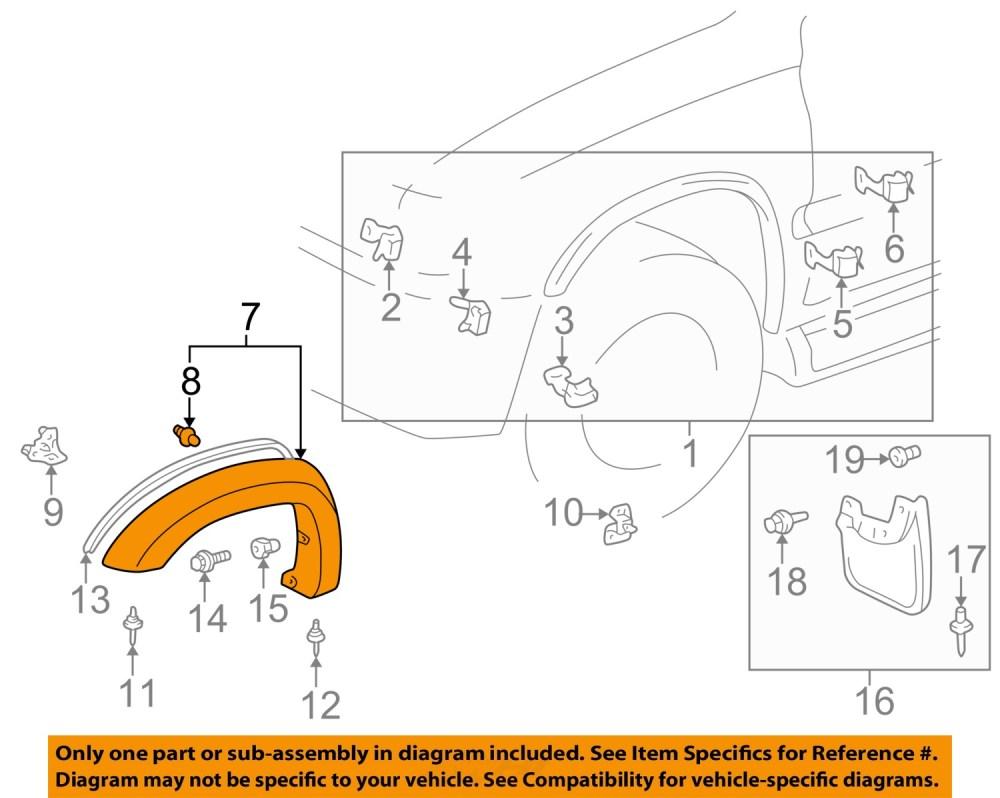 medium resolution of image is loading toyota oem 97 02 4runner front fender flare