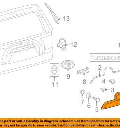 toyota oem 10 16 4runner liftgate tailgate hatch handle 1996 toyota 4runner wiring 1996 toyota 4runner wiring diagram  [ 1500 x 1197 Pixel ]