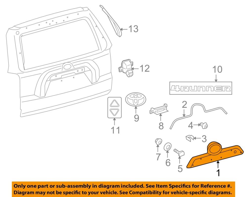 medium resolution of toyota oem 10 16 4runner liftgate tailgate hatch handle 1996 toyota 4runner wiring 1996 toyota 4runner wiring diagram