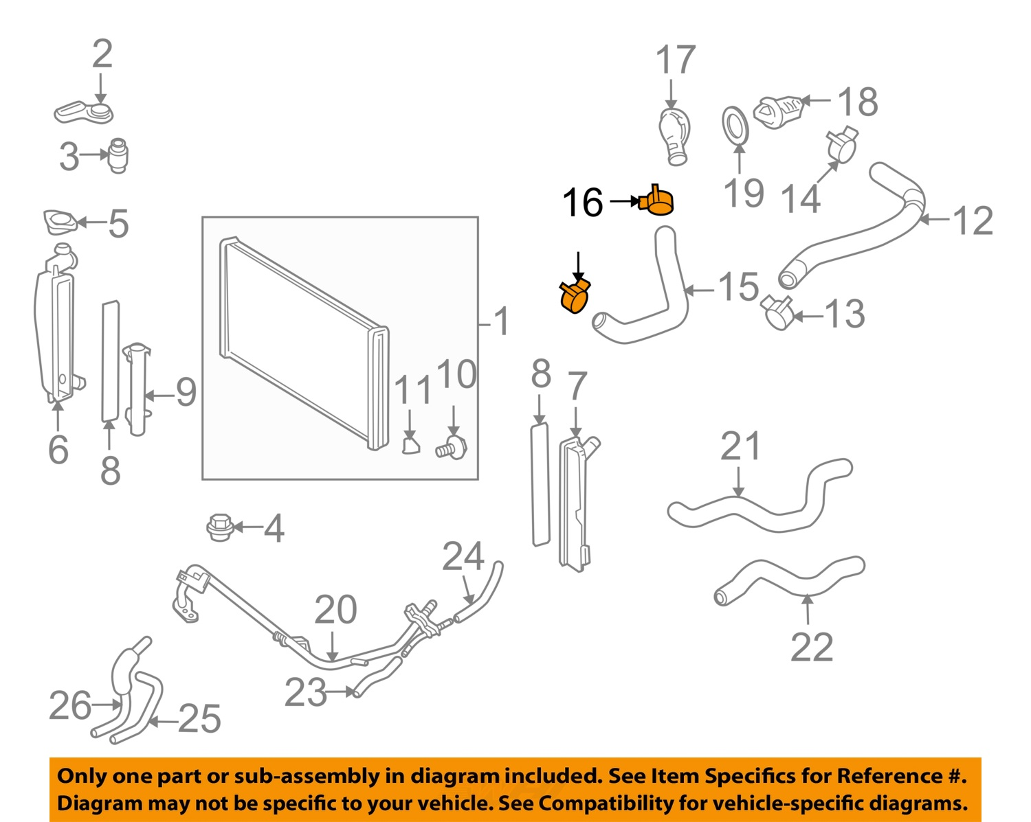 hight resolution of  16 on diagram only genuine oe factory original item