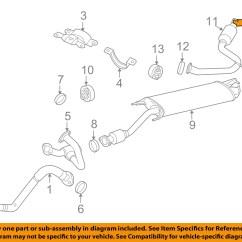 Toyota Rav4 Exhaust System Diagram 7 Way Rv Wiring Oem 06 12 3 5l V6 Tailpipe Extension