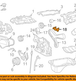 toyota oem 96 02 4runner 3 4l v6 engine timing gear sprocket left 1358462050 [ 1500 x 1197 Pixel ]