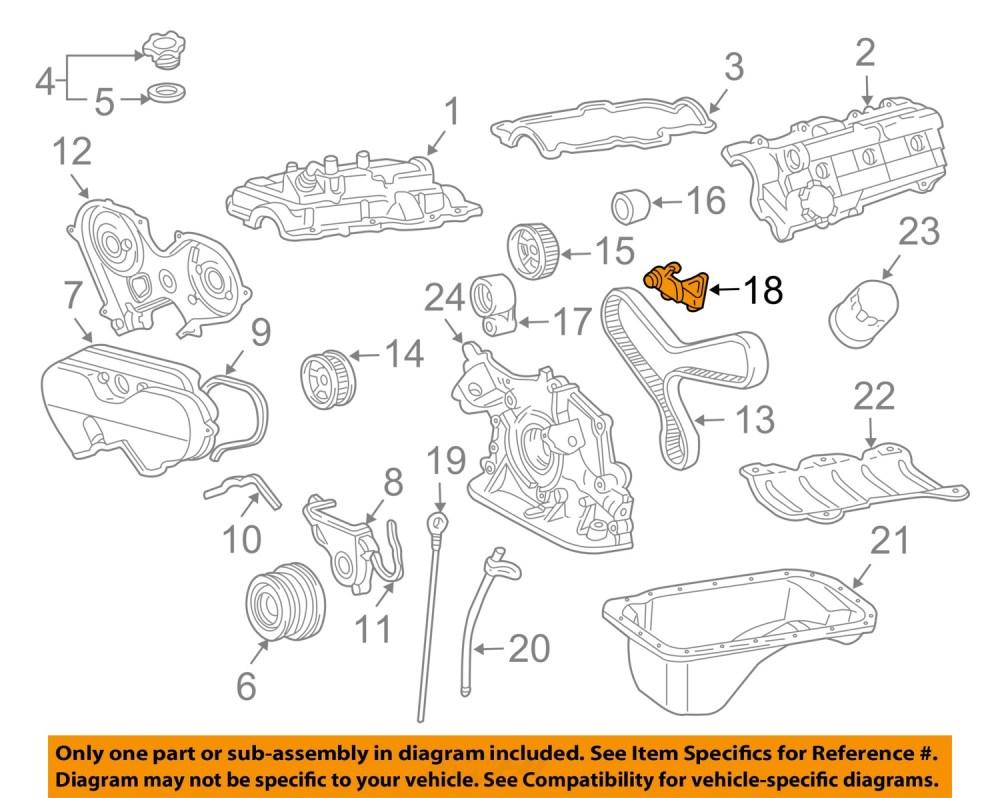medium resolution of toyota oem 96 02 4runner 3 4l v6 engine timing gear sprocket left 1358462050