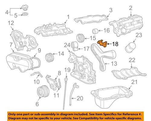 small resolution of toyota oem 96 02 4runner 3 4l v6 engine timing gear sprocket left 1358462050
