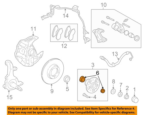 small resolution of toyota oem 95 04 tacoma axle bearing and hub assembly 2003 toyota tacoma parts diagram 2013