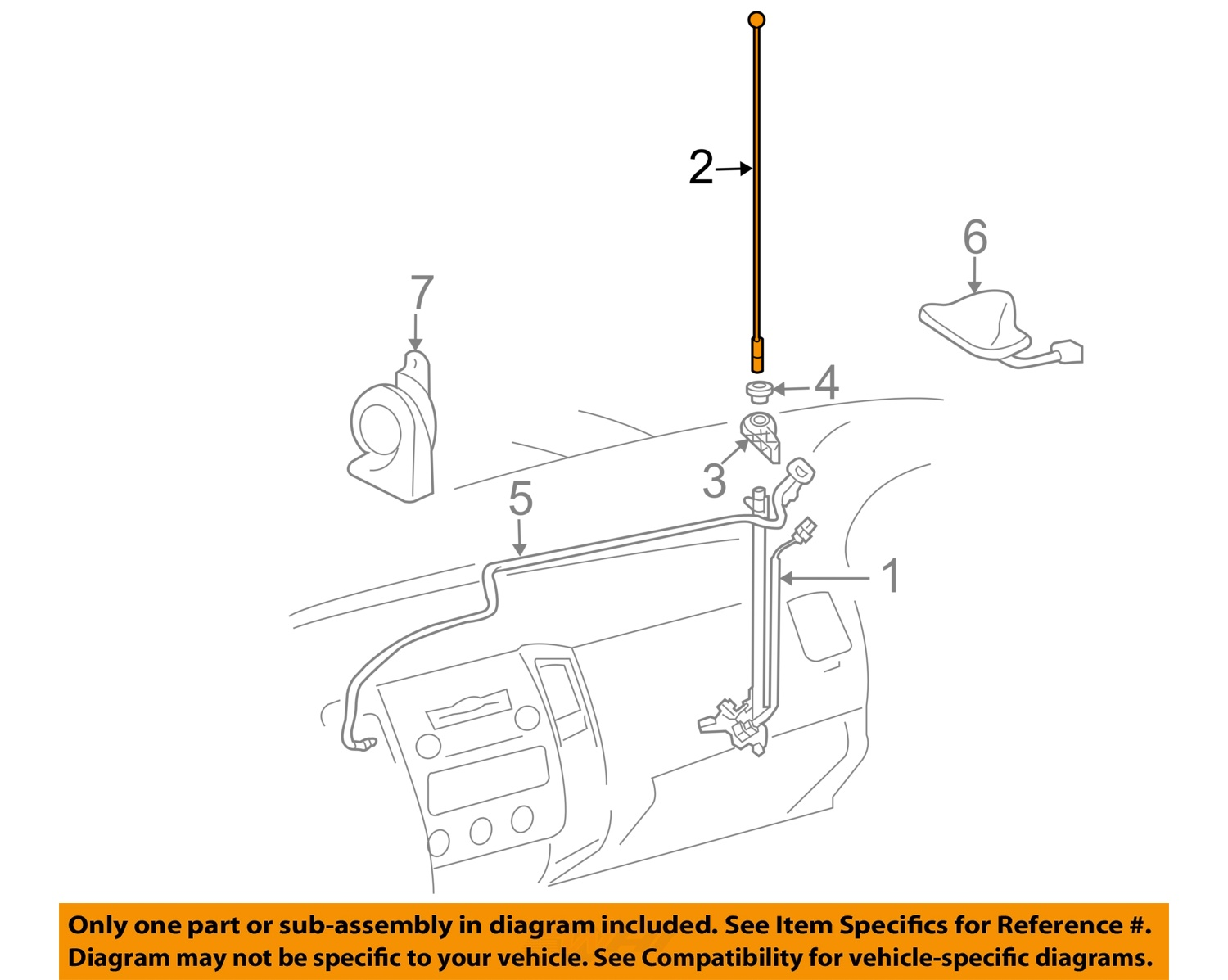 ant parts diagram different types of wiring diagrams toyota oem 05 15 tacoma antenna mast 8630904110 ebay